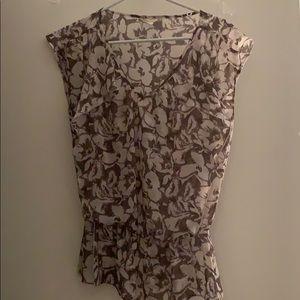 Beautiful flower print chiffon shirt
